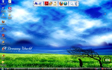 tampilan desktop xp saya terkini