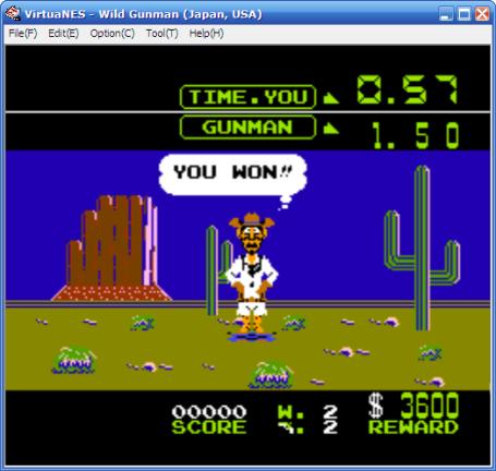 dengan virtualNESkita bisa maen game ini dengan bantuan mouse