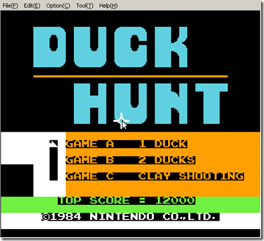 Screenshot-VirtuaNES - Duck Hunt (JUE)