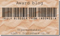 award trully blogger