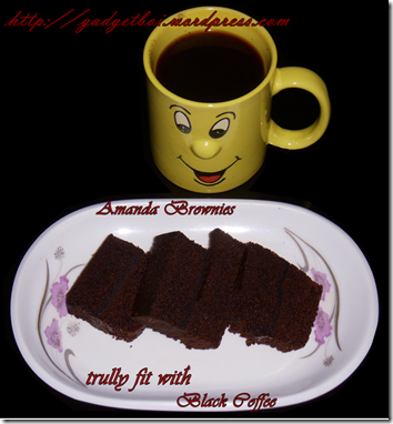 coffee and brownies Amanda's