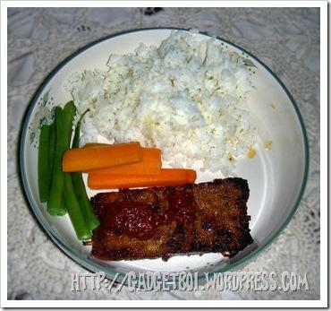 gepuk plus nasi plus sayura rebut plus sambal