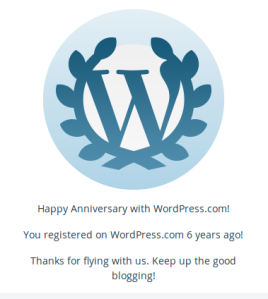 wordpress anniversar
