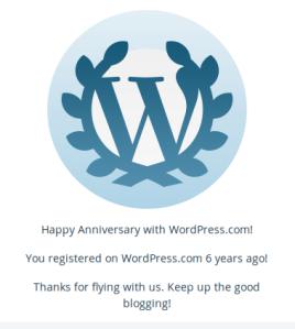 wordpress anniversar